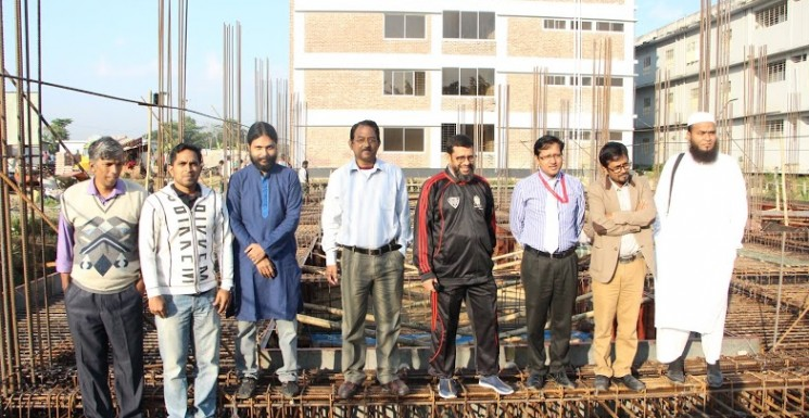 Honorable Vice Chancellor inspecting the construction work of Building-2