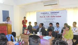EEE faculty delevering his Speech