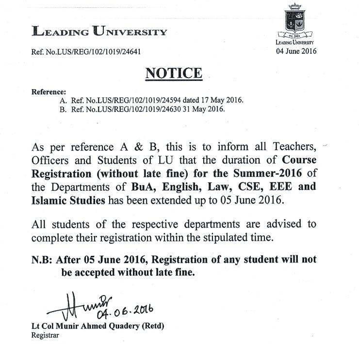 Notice 05.06.2016