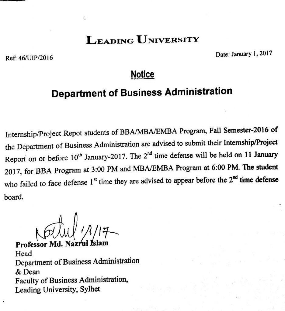 internship report sample business administration doc
