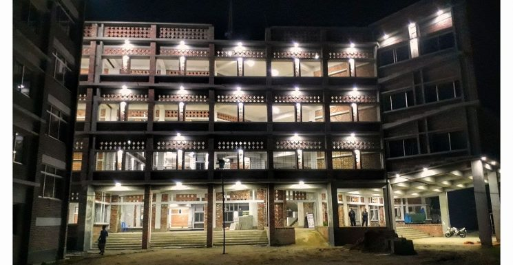 LU Permanent Campus at night. Photo Credit: Md. Abdul Musabbir Chowdhury